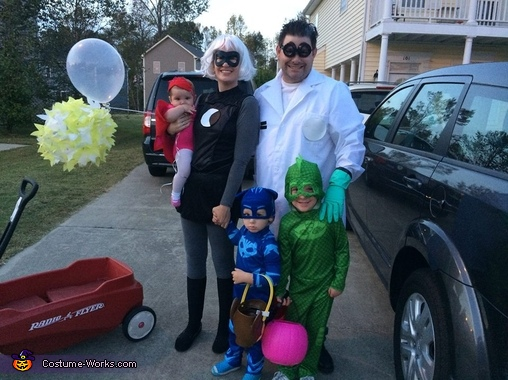 Pj Masks Halloween Costume.Pj Masks Family Halloween Costume