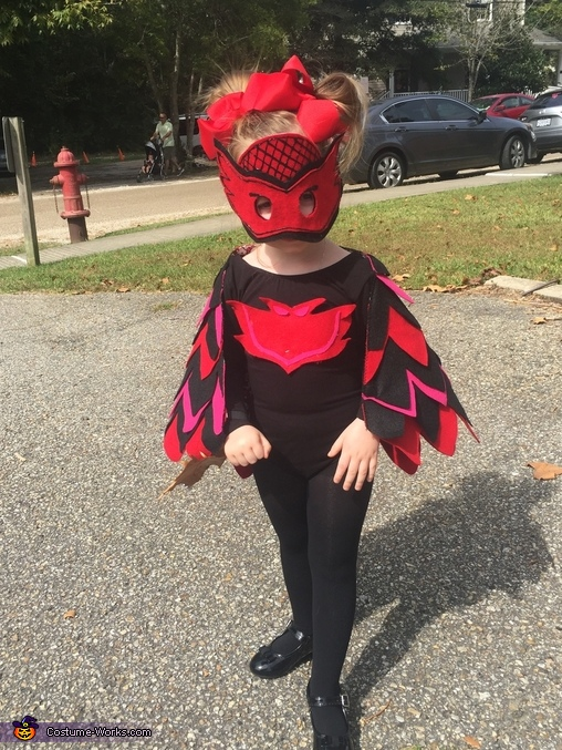 PJ Masks Owlette Homemade Costume