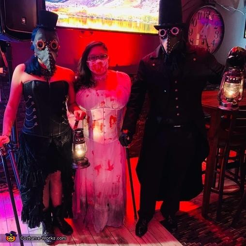 Me, Daniella, and Husband, Plague Doctors Costume