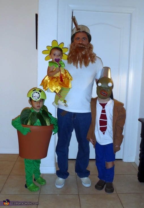 Plants vs. Zombies Family Costume