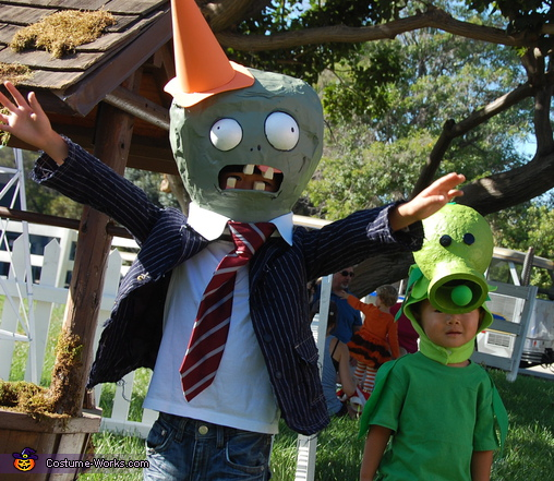 Plants vs. Zombies - Homemade costumes for kids