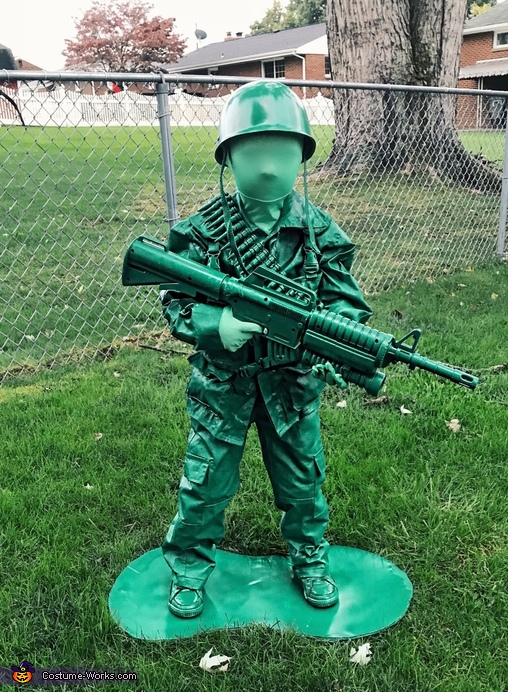 Plastic Green Army Man Toy Costume