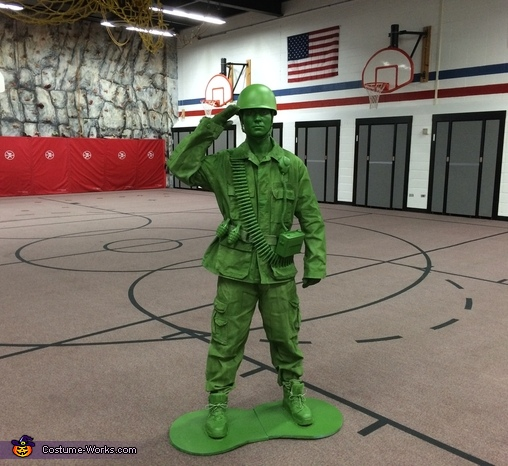 DIY Plastic Toy Soldier Costume