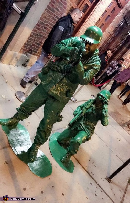 The right way to wait in line to get into a club., Plastic Toy Soldiers Costume