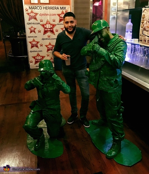 Random people everywhere were asking us for a photo., Plastic Toy Soldiers Costume