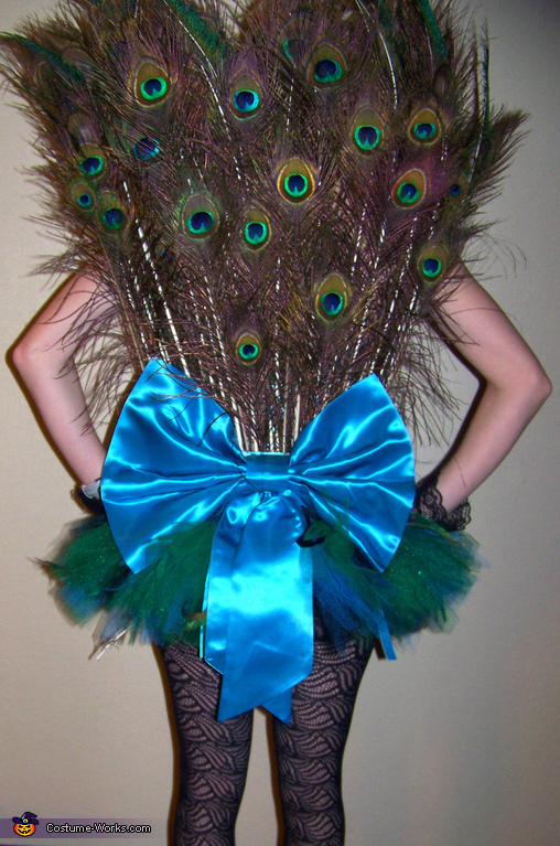 Plush Tail, Plush Peahen Costume