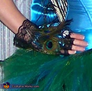 Gloves, Plush Peahen Costume