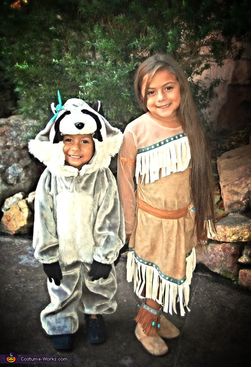 Pocahontas and Meeko Kids Costume