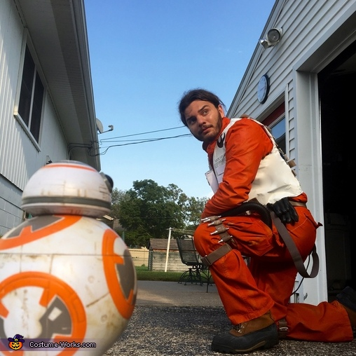 Poe and BB-8, Poe Dameron X-Wing Flight Suit Costume