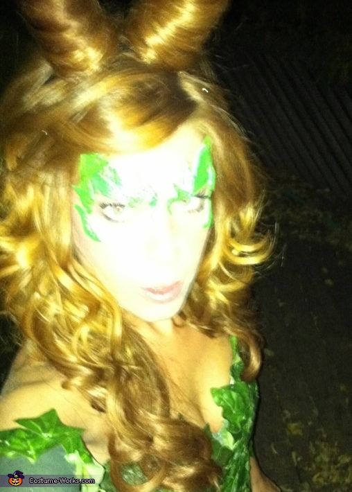 Face shot, Poison Ivy Costume