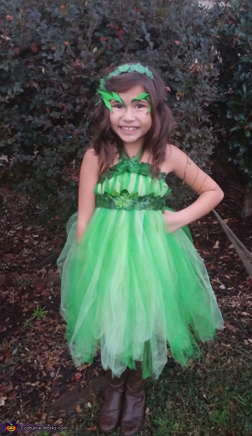 Cheer face! Prettiest villian I know!, Poison Ivy Girl's Costume