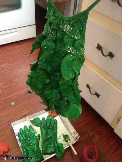 Poison Ivy Girl's Homemade Costume