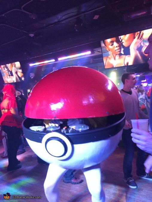 Action shot of Pokeball opening!, Pokemon DJ Pikachu Costume