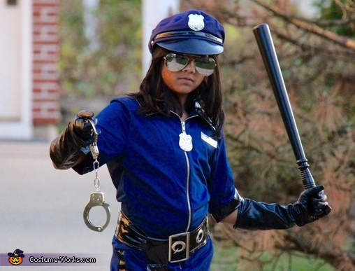 Police Officer Girl's Costume