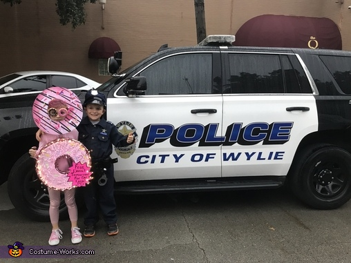 Police Officer & Donut, Police Officer & Donuts Costume