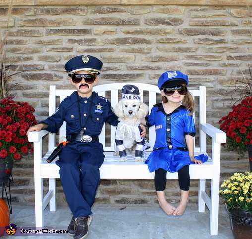 Bad Dog Arrested by Police Officers Costume