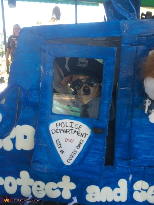 like to hang out the window, Policeman from Doggie Bone City Dog Costume