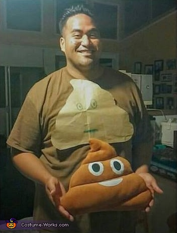 Poop and Toilet Paper Homemade Costume