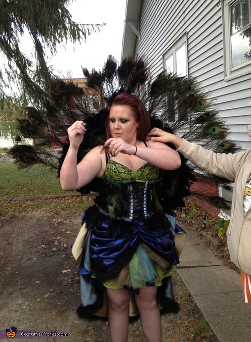 Poofy Peacock Costume