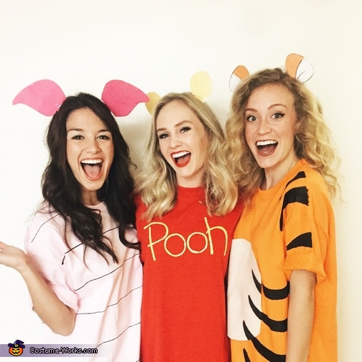Pooh Bear, Piglet and Tigger Homemade Costume