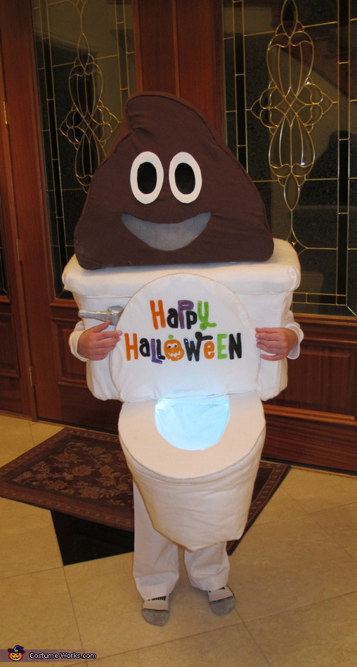 Poop Emoji with Toilet Costume