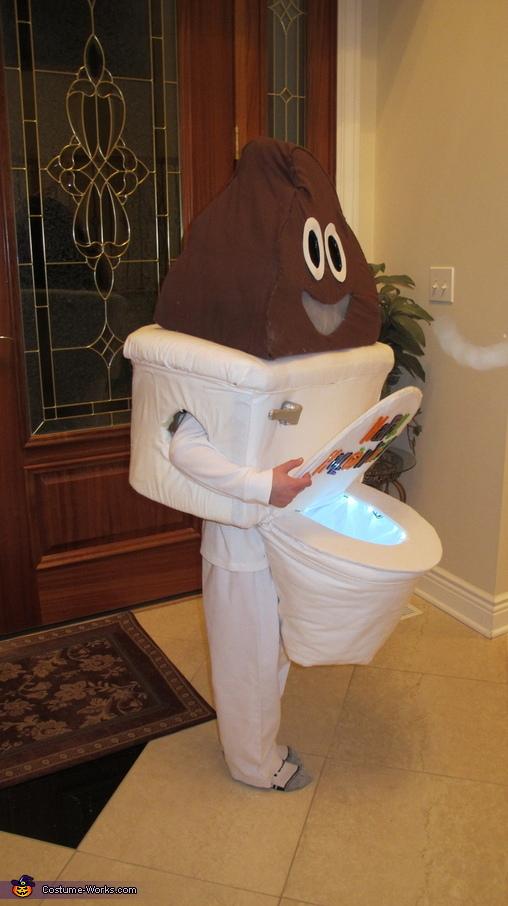 Side Views, Poop Emoji with Toilet Costume
