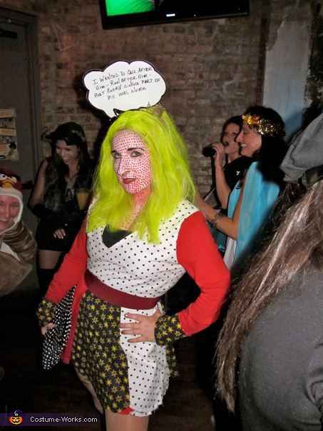 """That's the way it should have begun, but it's hopeless."", Pop-Art Classic Comic Girl Costume"
