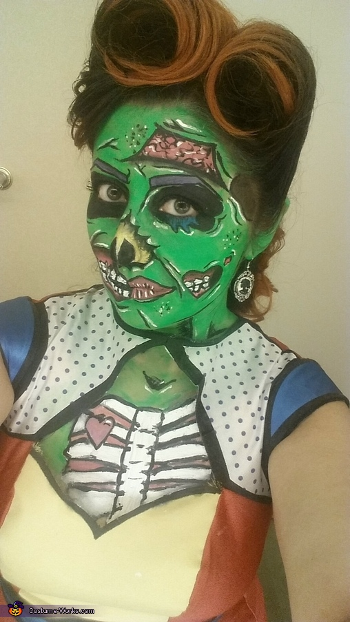 cartoon zombie, Pop Art Zombie Costume