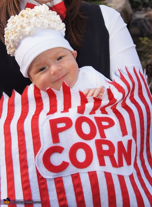 Homemade Baby Popcorn Costume