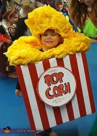 Pop Corn Homemade Costume