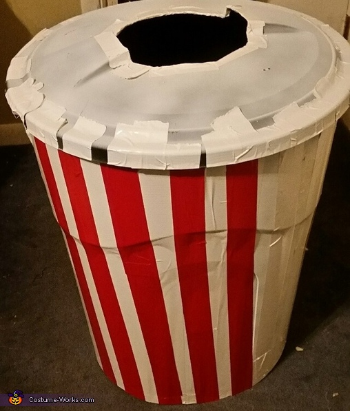 Making the bucket, Popcorn Costume