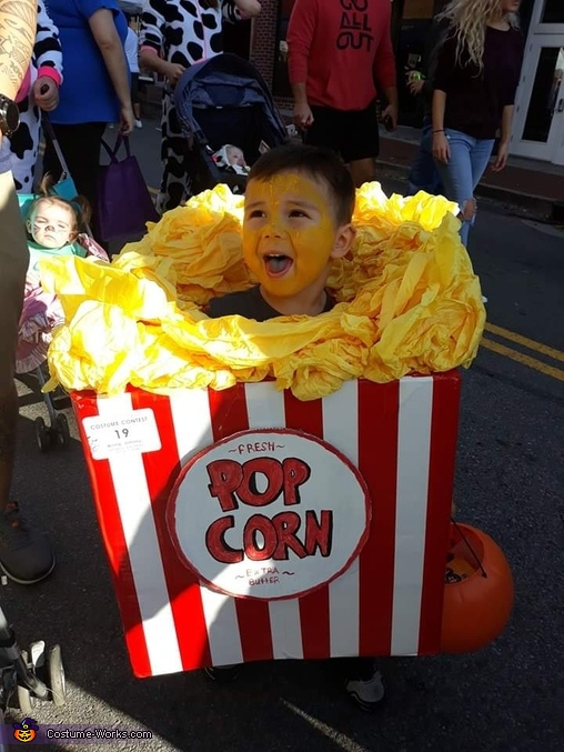 Pop Corn Homemade Costume