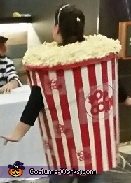 Finished costume - back, Popcorn Costume