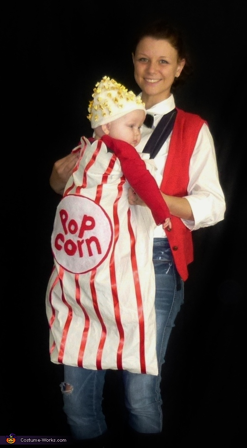 how to make a popcorn costume