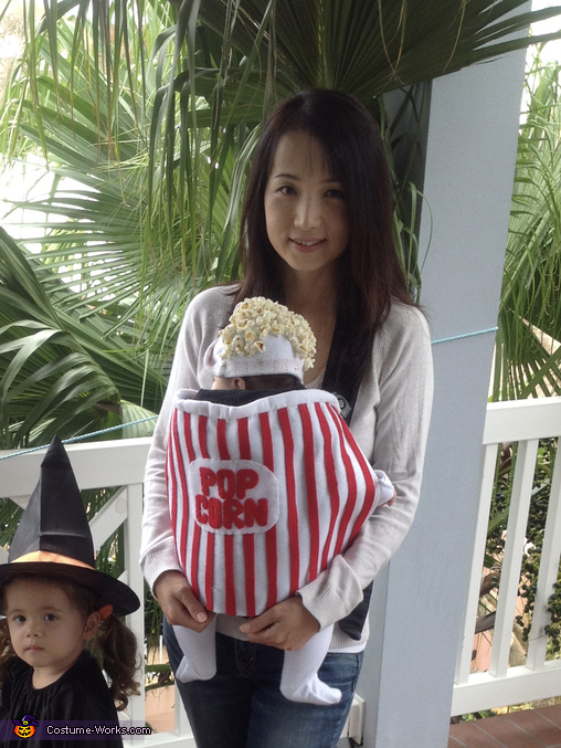 Popcorn costume for baby 2, Popcorn Baby Costume