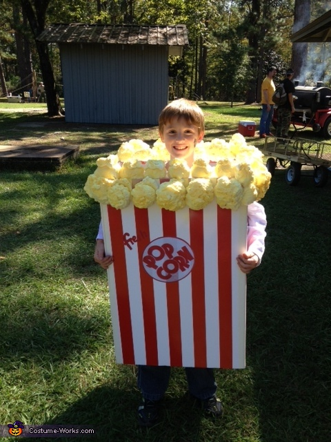 popcorn box costume - Halloween Box Costumes