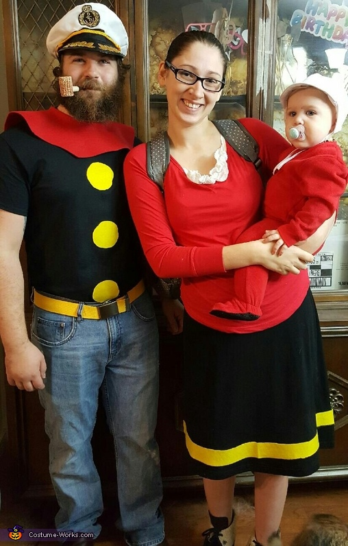Popeye and Family Costume