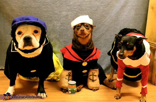 Popeye and Friends Dogs Costume