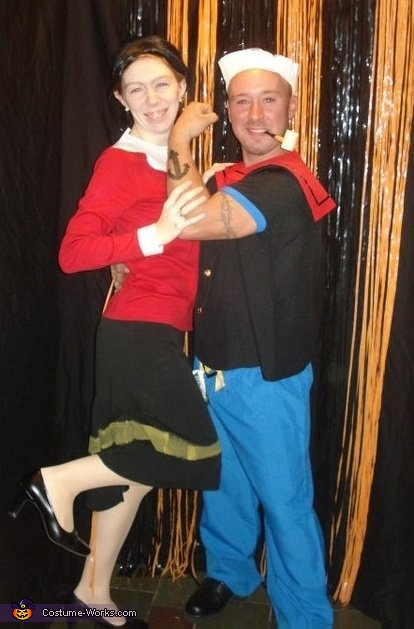 popeye and olive oil costume