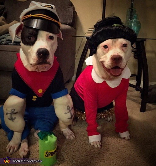 Popeye and Olive Oyl Dog Costume