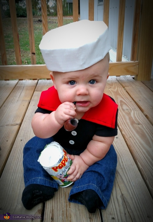 Popeye baby costume for 9 year old boy halloween costume ideas