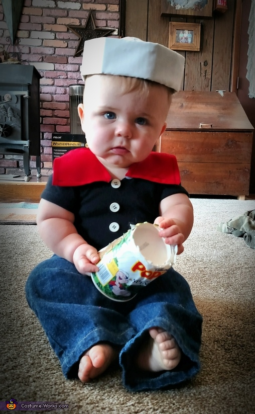 Popeye Baby Homemade Costume