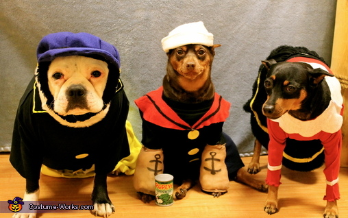 Popeye, Olive Oyl and Brutus Costume