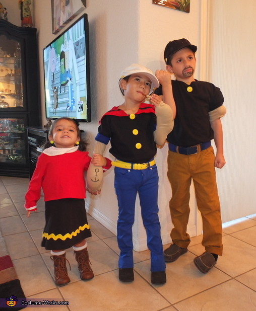 Popeye Olive Oyl And Bluto Group Costume