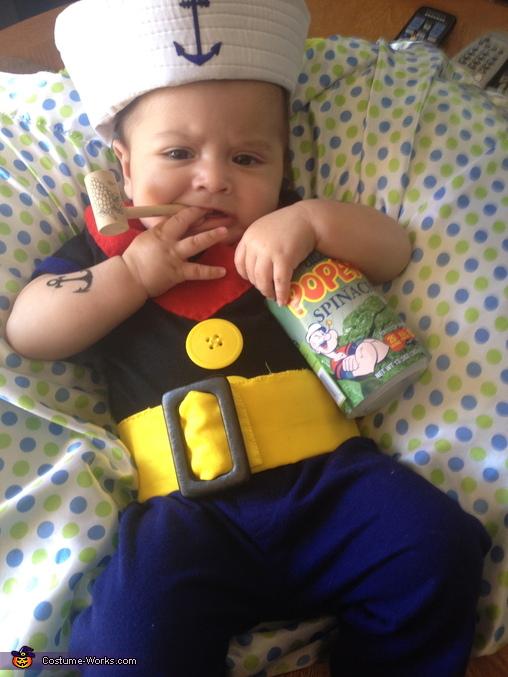 Popeye the Sailor Man Baby Costume