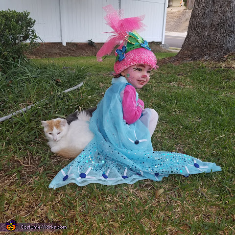 Cape details, Poppy Costume