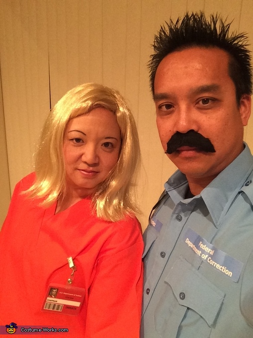 Pornstache and Piper Chapman Couple Costume