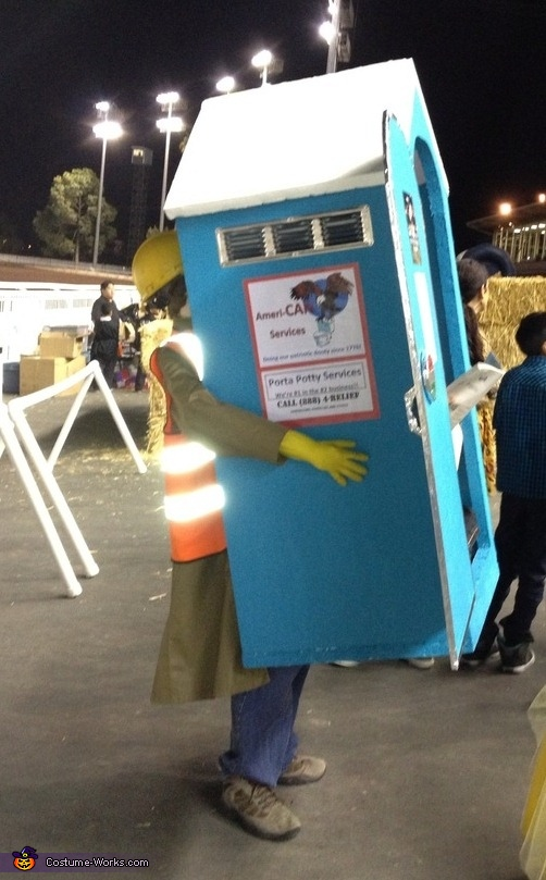 Porta Potty Side View, Portable Porta Potty Costume