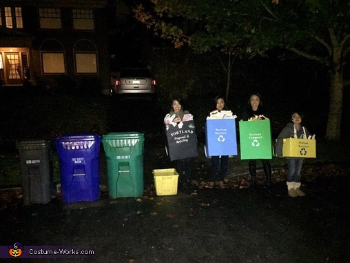 Portland Garbage Day Homemade Costume
