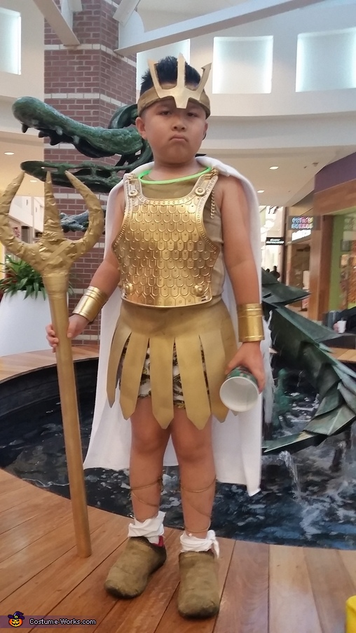 at the mall, Poseidon Costume